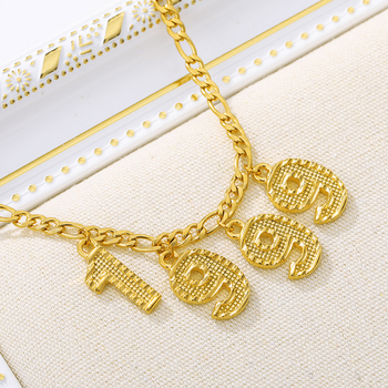 цена на 2020 Custom Stainless Steel Digital English Number Anklet For Women Gold Color Personalized Chains Anklet Initial Anklet Gifts