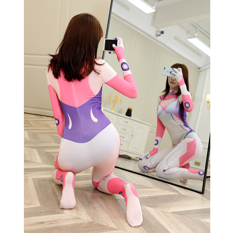 Overwatch AOV Eva Asuka Ayanami Rei Kiana Anime Cosplay Costumes Sexy Tights Jumpsuit Halloween Costumes For Women Spandex