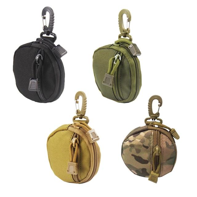 porte monnaie tactique militaire pour clés, Mini porte-monnaie, poche pour pièces de monnaie de l'armée avec crochet, sac de ceinture 1