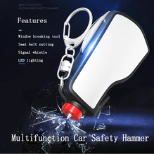 Multifunction Car Safety Hammer Emergency Glass Breaker Seat Belt Cutter Life-Saving Escape LED lighting Tool