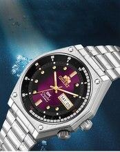 Orient-top marca relógio masculino japonês auto-vento movimento mecânico automático relógio masculino 50m impermeável relogio masculino