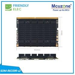 Carte SOM-RK3399V2 amicale de noyau, mémoire de 4GB 16GB mémoire flash HDMI dans le doppel WiFi de doppel fréquence de MIPI
