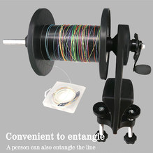 Fishing Line Spooler with 2 Long Short Axes Winder Machine Spinning Reel Spool Spooling Station System for Any Reel Lines Tools(China)