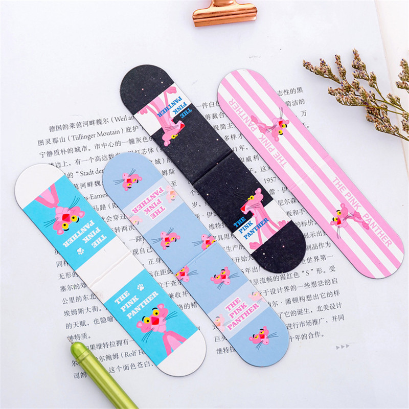 1 Pcs Magnetic Bookmarks Creative Student Book Folder Mini Book Flip Book Clip Kawaii Paper Label With Cute Pattern Stationery