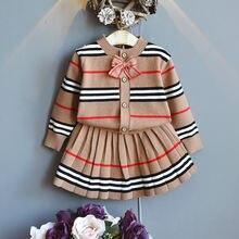 Новинка комплект одежды для маленьких девочек Осень зима 2021