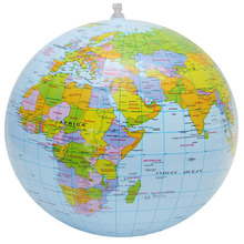 Inflatable Globe World Earth Ocean Map Ball Geography Learning Educational Beach Ball Kids Toy Home Office Decoration Beach Ball