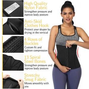 Image 4 - Kobiety gorset Waist Trainer Trimmer gorset Fitness pas wyszczuplający urządzenie do modelowania sylwetki odchudzanie Sauna pot sportowe pasy paski do przytwierdzania urządzeń modelowanie