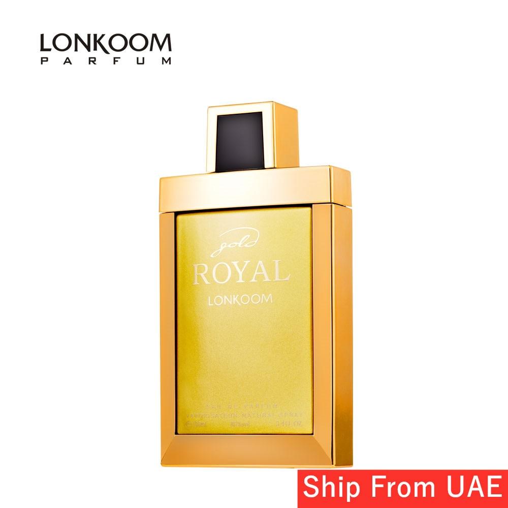 LONKOOM Women Perfume GOLD ROYAL Green-floral Scent Fragrance Eau De Parfum For Women 100ml Long Lasting Fragrant Free Shipping