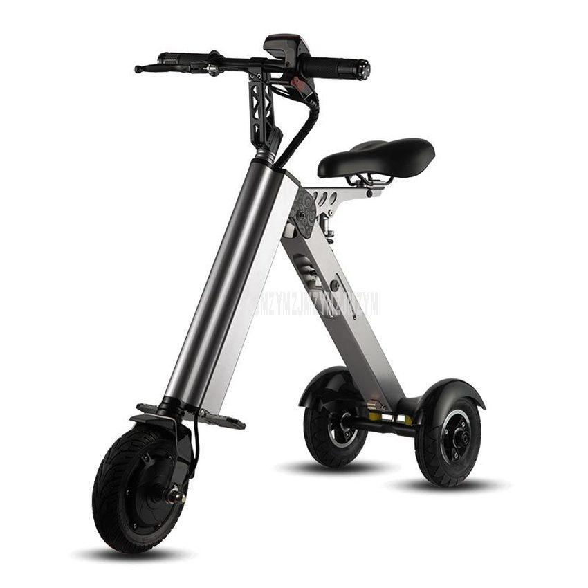 K7S Einfache Form Mini E-Bike Drei-rad Faltbare Elektrische Roller Für Erwachsene Intelligente Elektrische Fahrrad 250W 36V 7.8Ah