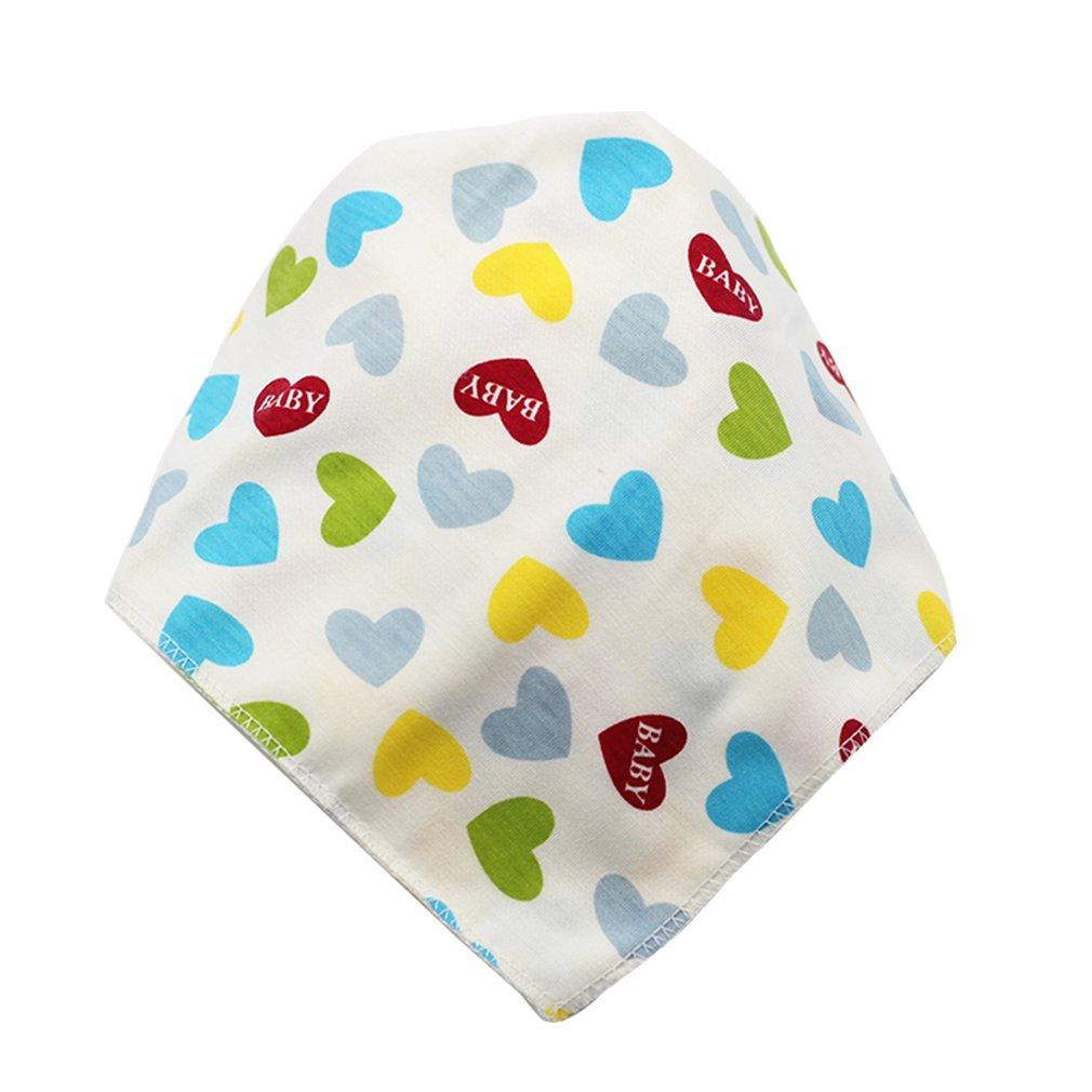 Cotton Baby Bibs Triangle Double Layers Cartoon Baby Bandana Dribble Bibs Universal Baby Accessories