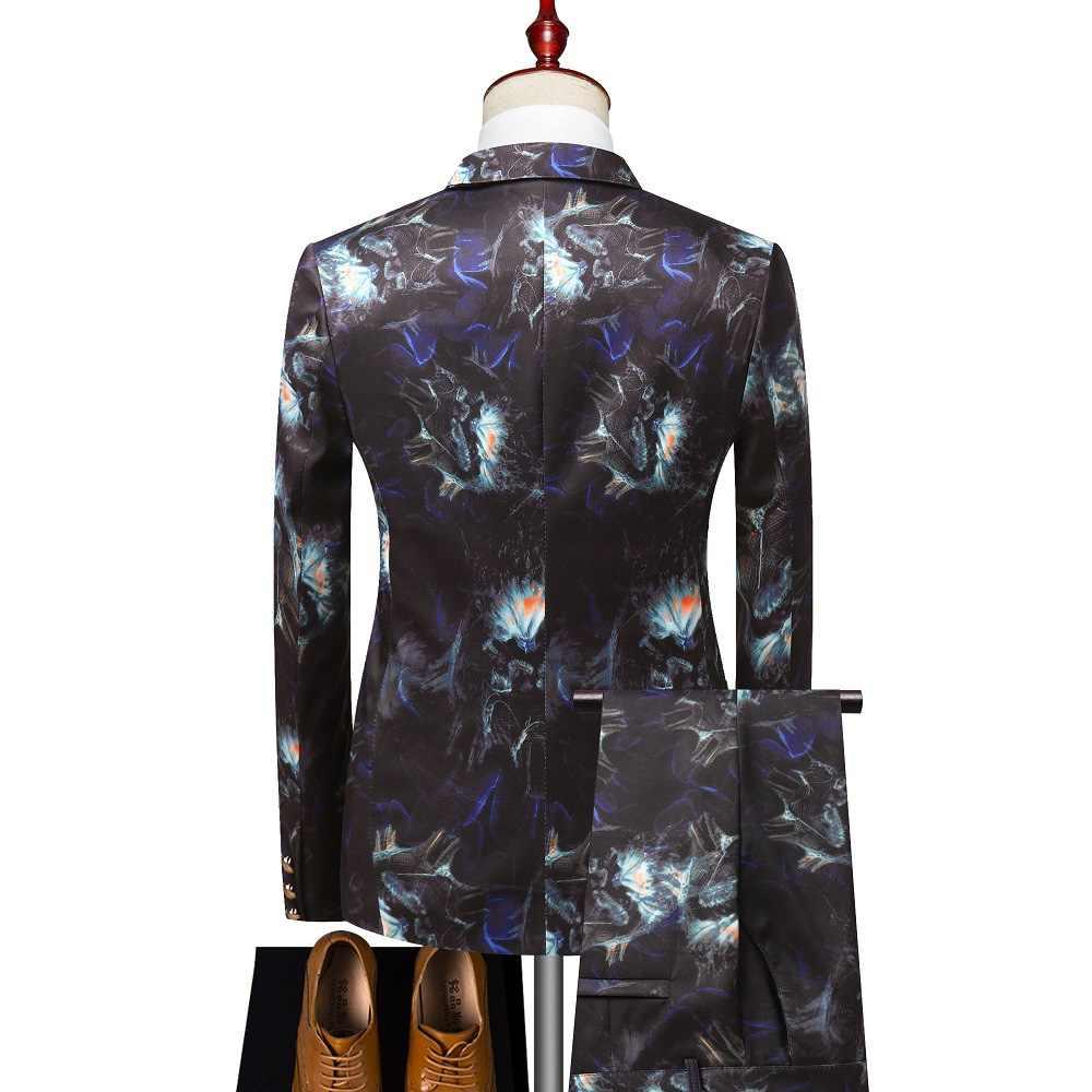 Terno masculino 2020 novo terno de duas peças terno para o desempenho casual magro hip-hop ternos masculinos com calças