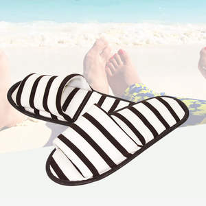 Folding Slipper Travel Hotel Unisex New Striped No Disposable