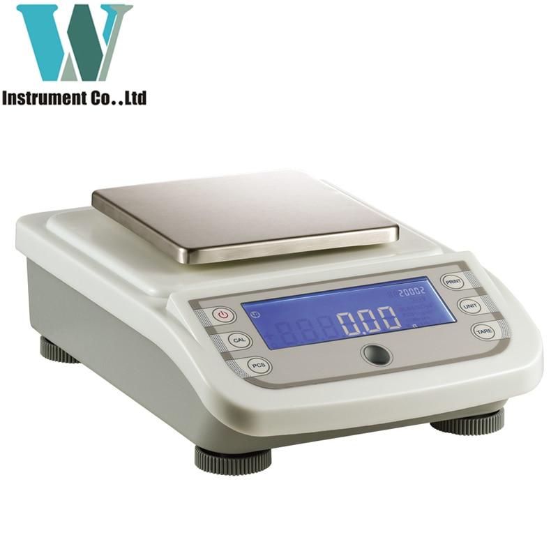Kostenloser Versand 0,01g 2000g WA20002Y Kommerziellen Industriellen Maßstab Schmuck Digitale Wiege Balance