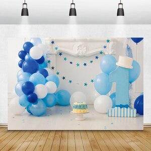 Image 4 - Laeaccoวันเกิดพื้นหลังChic Wallสีฟ้าบอลลูนเมฆธงเตาผิงเด็กถ่ายภาพฉากหลังPhoto Studio