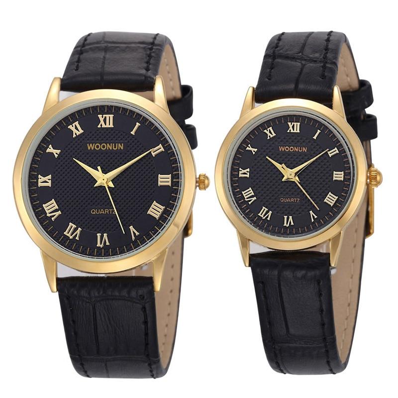 Luxury Couple Watch Lovers Watches Leather Strap Quartz Watches Women Men Casual Watches Erkek Kol Saati Relogio Masculino