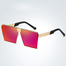 MOUGOL2019 colorful new polarized sunglasses ladies fashion glasses square trend Europe and the United States big box