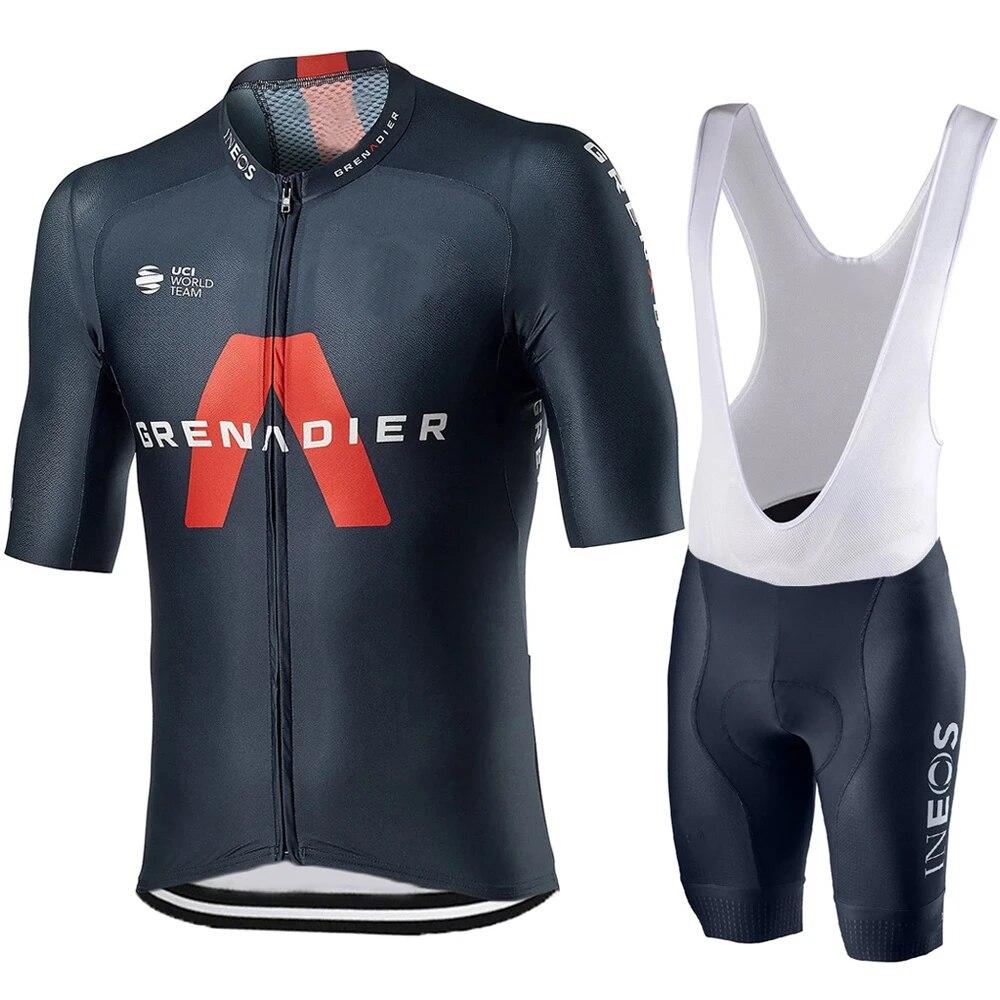 Mens Cycling Jersey BIB Set Short Sleeve Bike Shirt Shorts Suit Bicycle Clothing