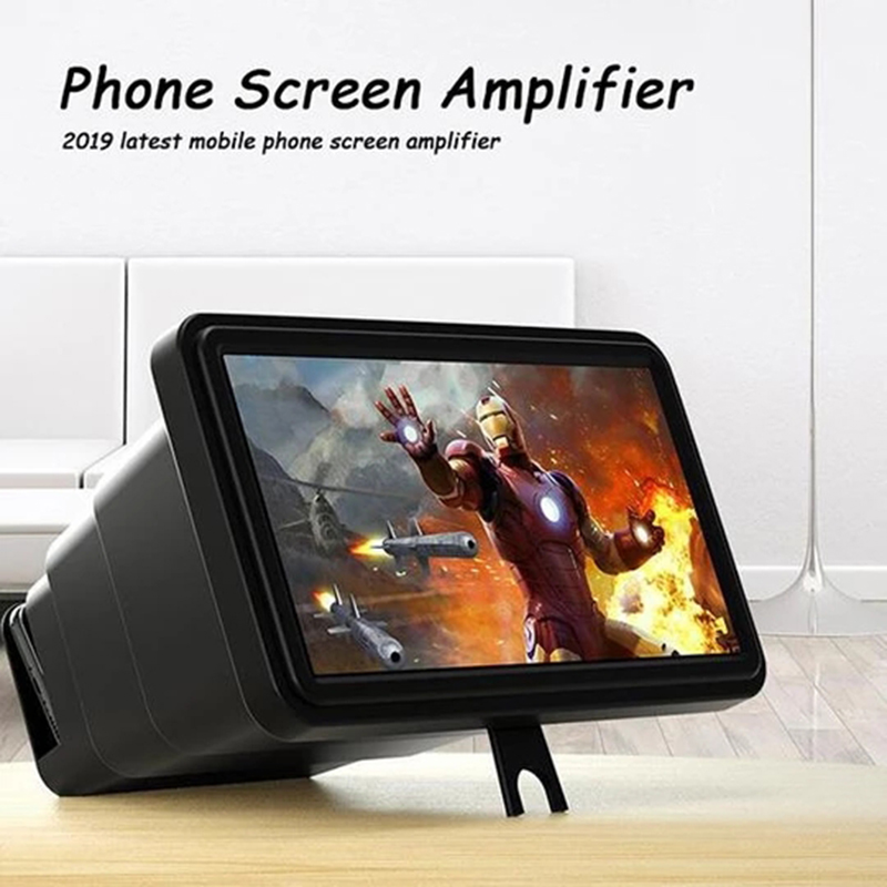 3D Screen Magnifier Amplifier Mobile Screen Telescopic Magnifying Glass Watch 3D Movies For Smart Phone Stand Christmas Gift