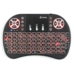 Image 4 - VONTAR i8 keyboard backlit English Russian Spanish Air Mouse 2.4GHz Wireless Keyboard Touchpad Handheld for TV Box H96 max PC