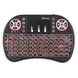Image 4 - VONTAR i8 tastiera retroilluminata Inglese Russo Spagnolo Air Mouse 2.4GHz Tastiera Senza Fili Touchpad Tenuto in mano per la TV Box H96 max PC