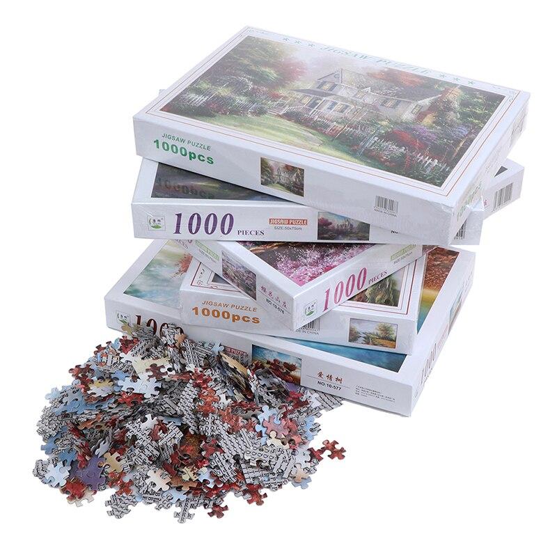 1000 штук головоломки игры головоломки для сборки для взрослых и детей головоломки образовательные игрушки