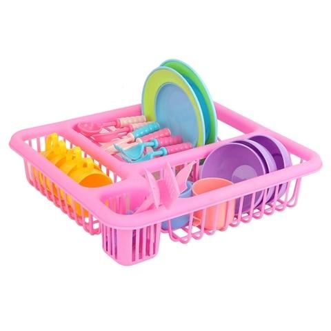 21 pcs set criancas jogar fingir brinquedos cozinha cozinhar utensilios de mesa jogo conjunto para
