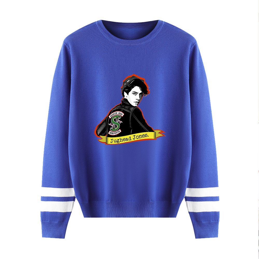 Hot Arrive Riverdale Autumn Sweaters Hip Hop O-Neck Suitable Spring Pullovers Men Women Sweaters Male Female Blue Casual Tops
