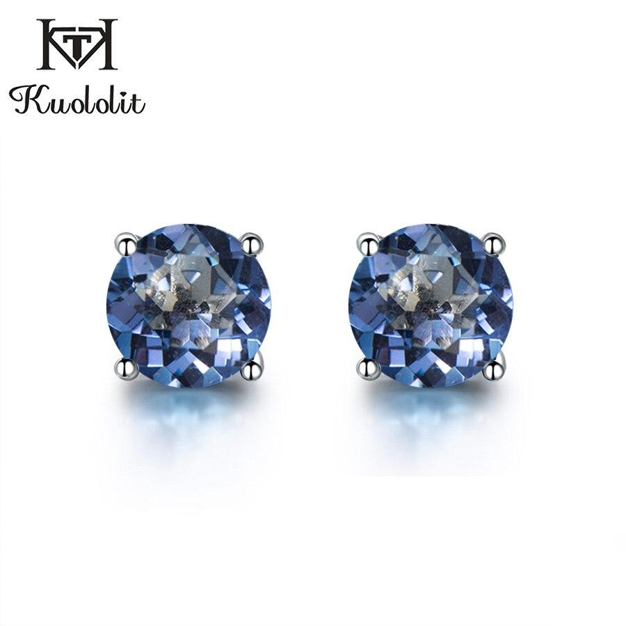 silver gemstone earrings for women  (2)