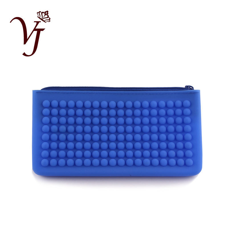 Practical Unisex Silicone Waterproof Long Clutch Wallet Housekeeper's Casual Cheap Phone/Key/Coin Purses Pencil Bag For Students