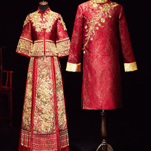 2020 настоящий смокинг жениха Добби Chaquetas Largas Para Hombre Boda Xiuhe мужская одежда 2020 Новое Сетчатое свадебное платье для той же пары