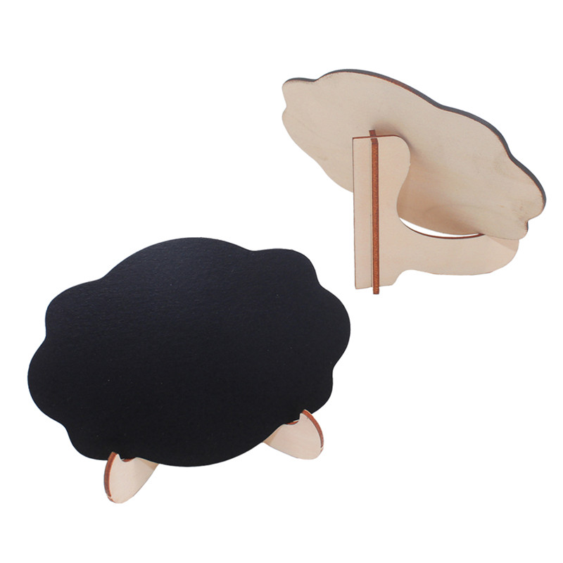 5pcs/Lot Cute Cloud Shape Wooden Small Chalkboards Blackboard For Weddings Birthday Parties Message Board Signs And Event Decora