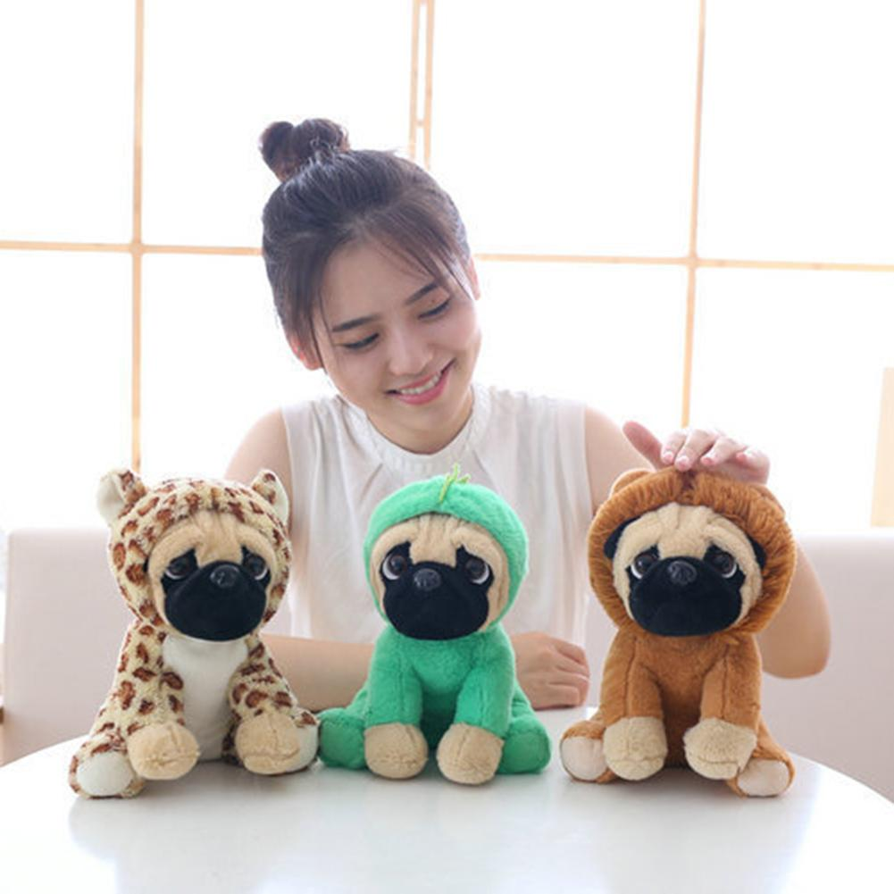 20cm Stuffed Plush Puppy Dog Animal Clothes Doll Toy Kids Gift Prize Claw Filler Doll Short Plush Pillow Cusion For Children