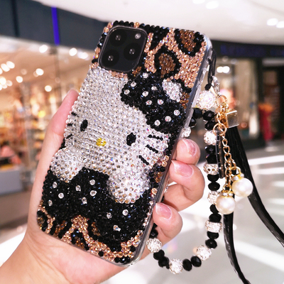 Bling Crystal Diamond Leopard Super Cute Pearl Case Cover For Samsung Galaxy Note 20 10 9 8 S21 S20 FE Ultra S10E S10 S9 S8 Plus