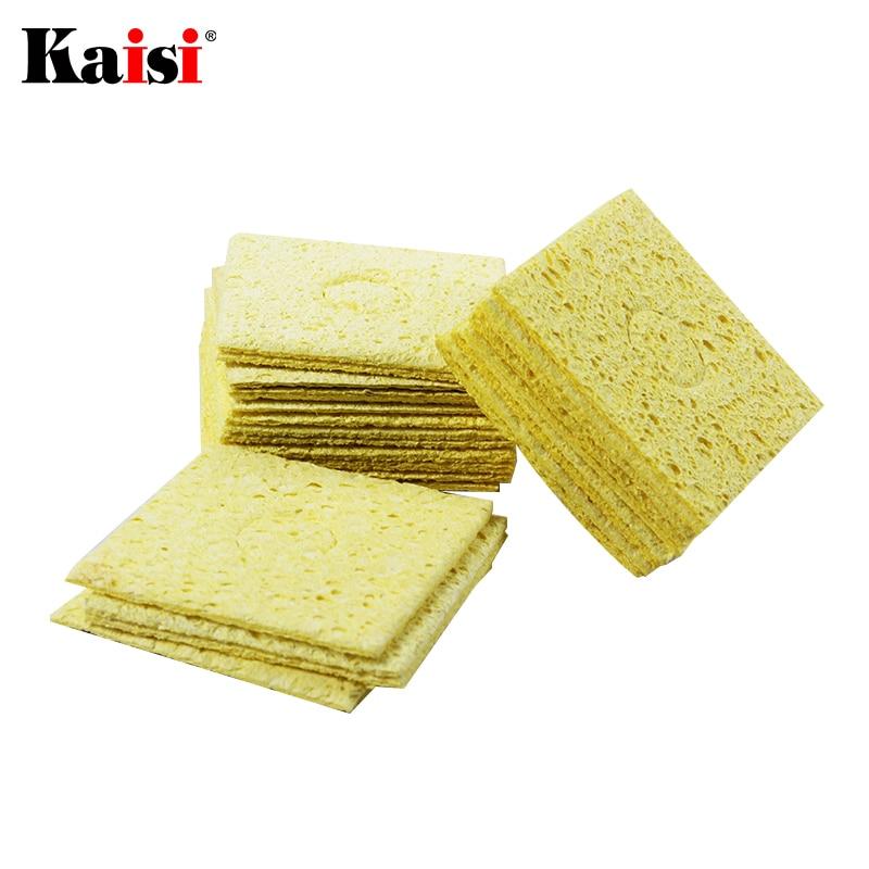 10/20/50/100pcs Soldering Iron Sponge Electric Welding Cleaner Cleaning Pads High Temperature Welding Sponge for Soldering Tools