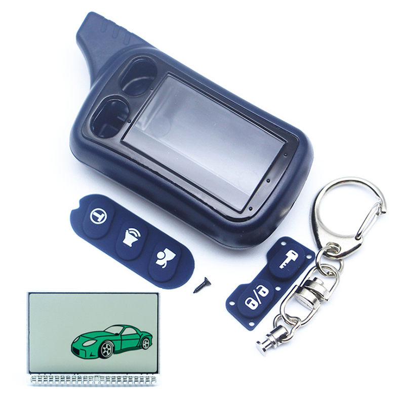TZ9030 Keychain Lcd Display+Body case For Russian Tomahawk tz 9030 LCD Remote Starter two way car alarm image