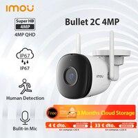 Dahua Imou-cámara IP inalámbrica para exteriores, IPC-F42P de detección humana de seguridad para el hogar inteligente, resistente al agua IP67, con micrófono incorporado, 2C, 4MP, WiFi