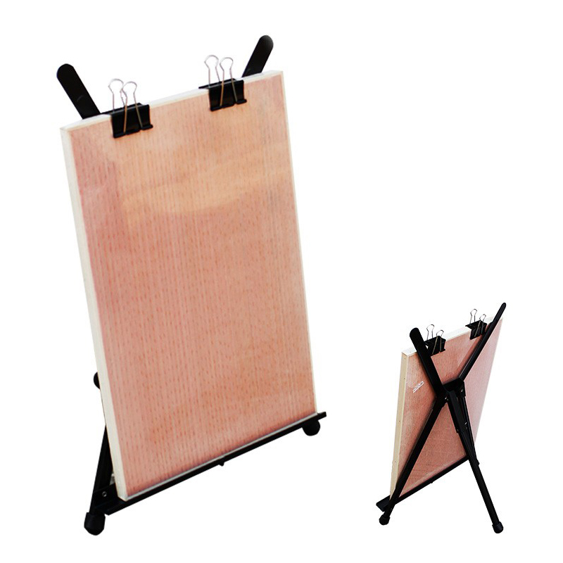 Metal Sketch Easel Stand Foldable Tripod Easel  Portable Adjustable Aluminum Alloy Easel Sketch Drawing For Artist Art Supplies