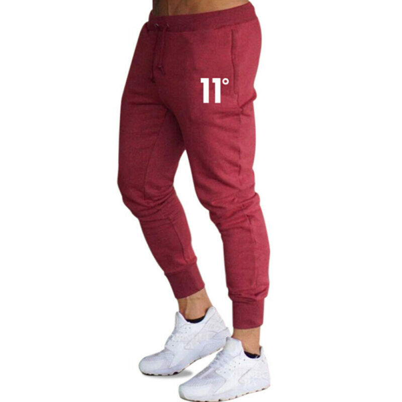 UK Mens Gym Slim Fit Bottoms Trousers Tracksuit Skinny Joggers Sweat Track Pants Casual Sport Long Pants Gym Sweatpants