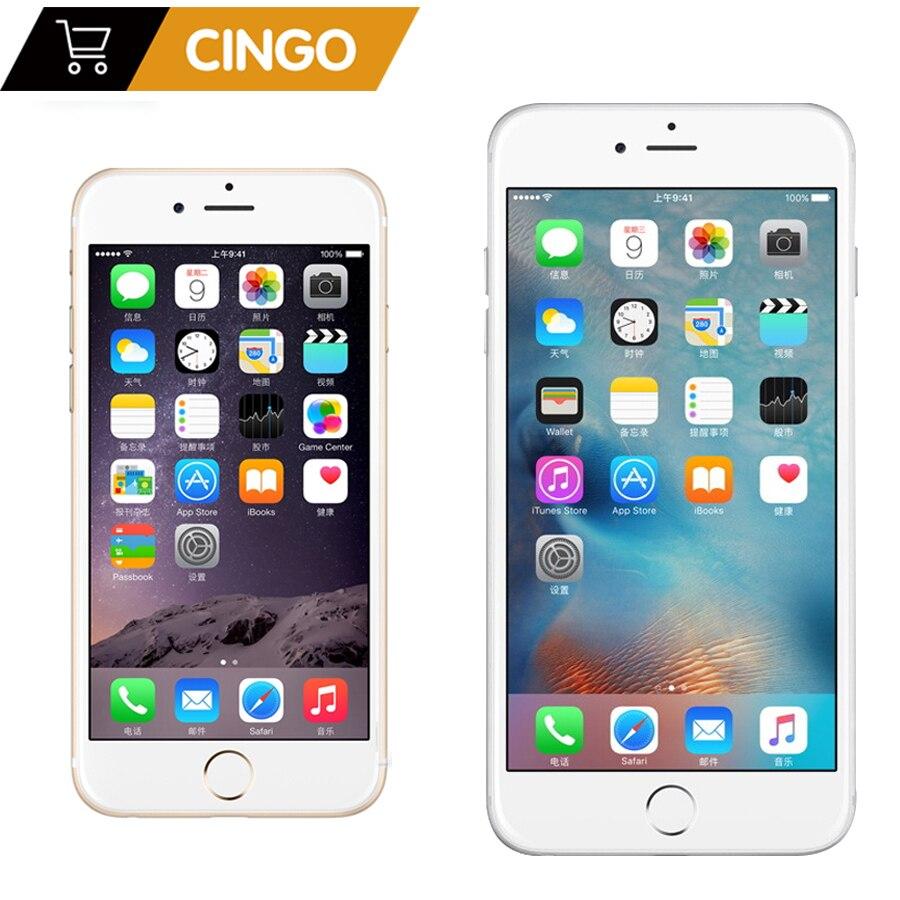 Débloqué Apple iPhone 6 1GB RAM 16/64/128GB ROM IOS double noyau 8MP/Pixel utilisé 4G LTE téléphone portable