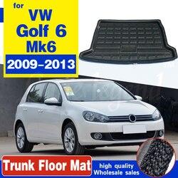 Коврик для багажника Volkswagen VW Golf 6 Mk6 2009-2013, коврик для багажника, поднос для грузового пола, коврик, грязезащитная накладка, защитные аксессуа...