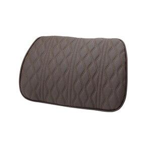 Image 5 - Almohada de espuma viscoelástica para reposacabezas de coche, juegos de soportes de asiento bordados de cuero, ajuste de cojín trasero, almohadas lumbares de descanso del cuello automático