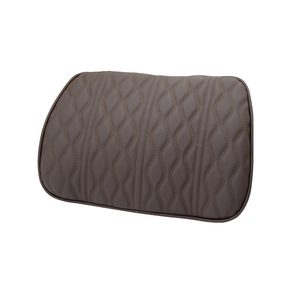 Image 5 - Memory Foam Car Headrest Pillow Leather Embroidered Seat Supports Sets Back Cushion Adjustment Auto Neck Rest Lumbar Pillows