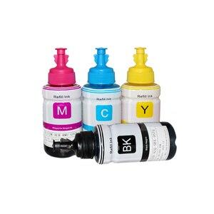 Image 4 - HTL 5PK 70ml atrament barwnikowy wkład tuszu kompatybilny dla epson L200 L210 L222 L100 L110 L120 L132 L550 L555 L300 L355 L362 tusz do drukarki