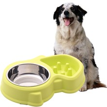 Pet bowl dog cat easy to clean non-lip  pet feeder durable Anti-uffocation low food