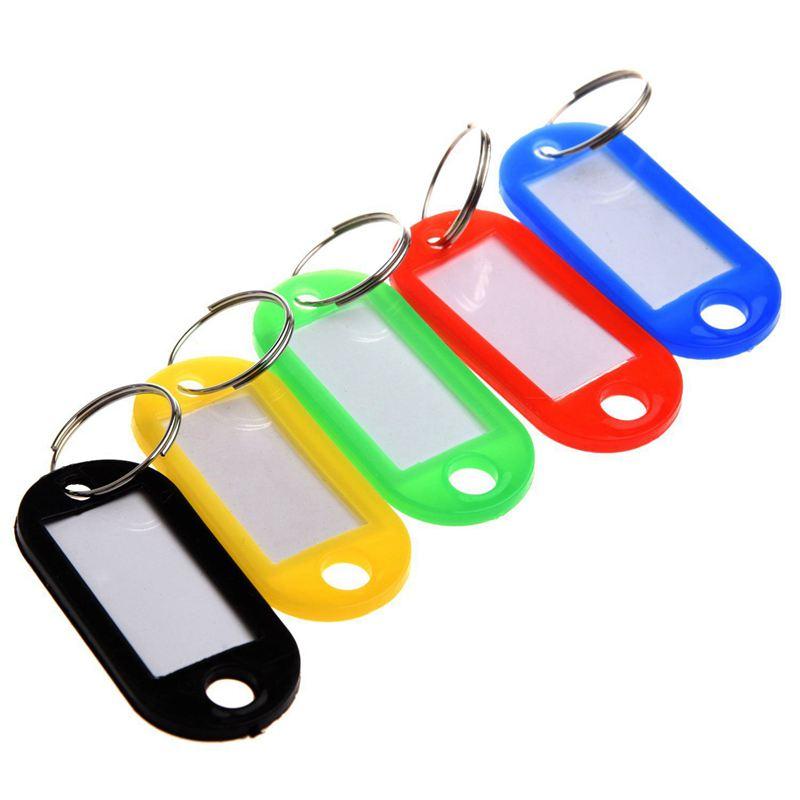 NEW-20 X Plastic Key Tag Identification Label
