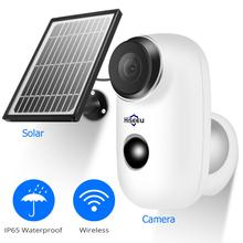 Hiseeu 1080P Wireless Rechargeable Battery IP Camera with Solar Panel Outdoor Weatherproof Home Security Wifi PIR Motion