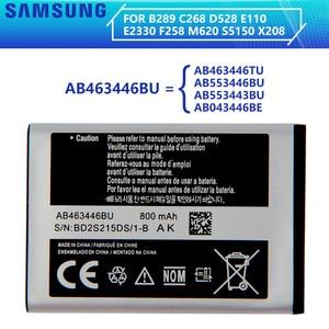 SAMSUNG Original Battery AB463446BA AB463446BC AB463446BE AB463446BU AB463446TU For Samsung S139 M628 X520 F258 C3011 X208 E1200