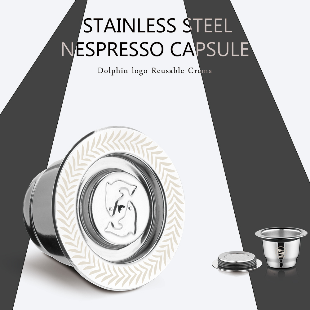 For Nespresso Refillable Coffee Capsule Espresso Maker & Crema Version Filter For Essenza Mini Machine