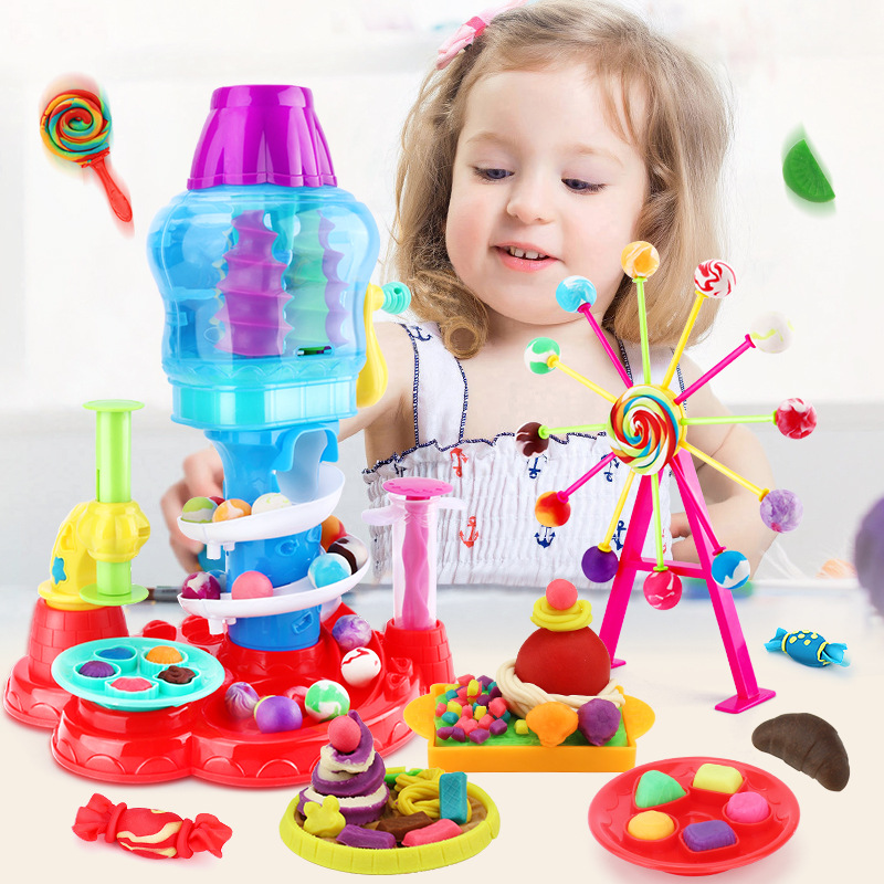 Kids Play Dough Creative 3D Educational Toys Modeling Clay Plasticine Tool Kit DIY Design Boys Girls Toys Gift Kitchen Toys