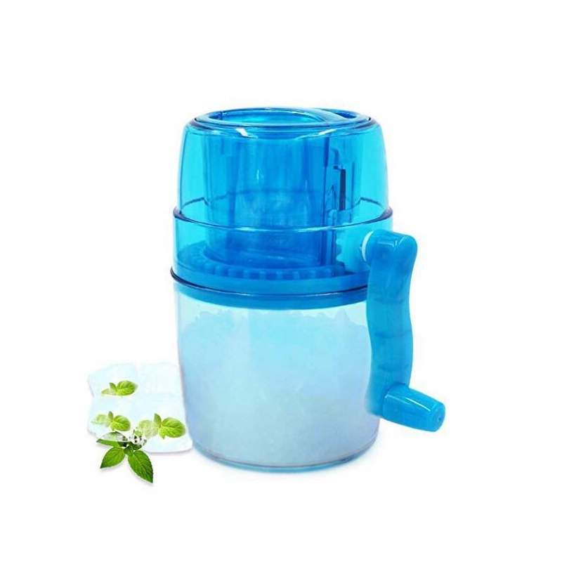 Hot 1L Portable Hand Crank Manual Ice Crusher Shaver Shredding Snow Cone Maker Machine Kitchen Appliance For Kid And Family